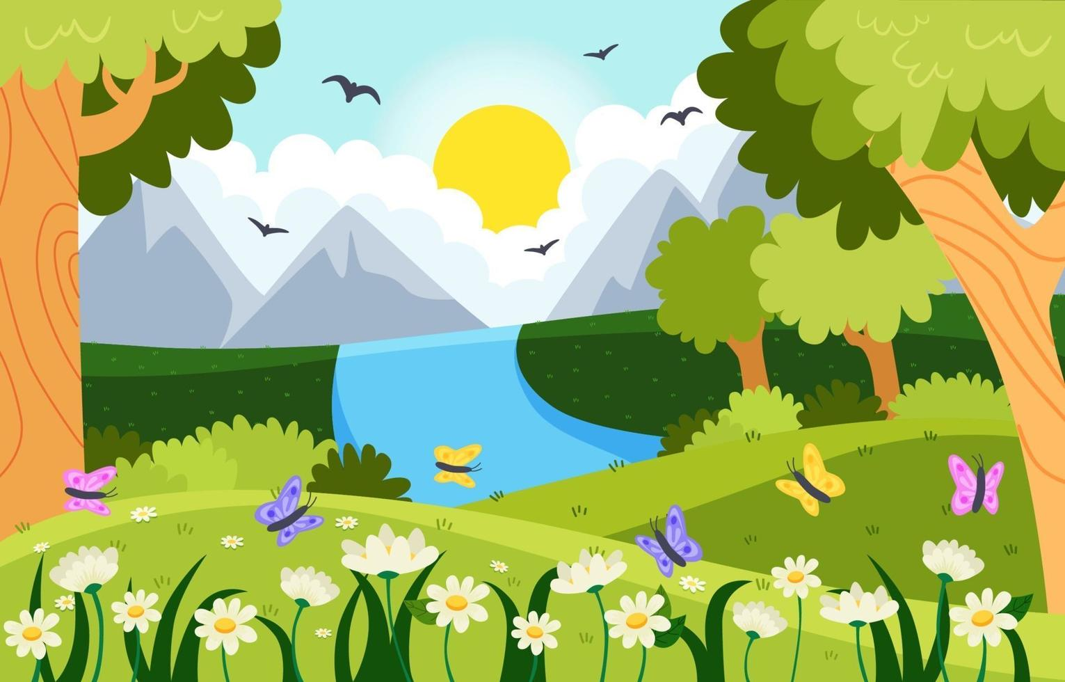 Spring Nature Background vector