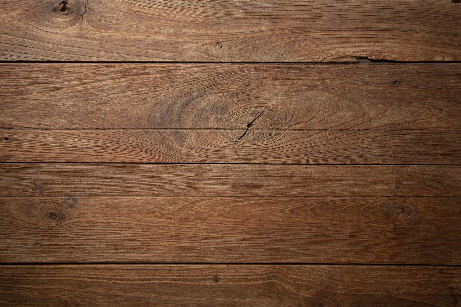 Dark old wooden table texture background top view photo