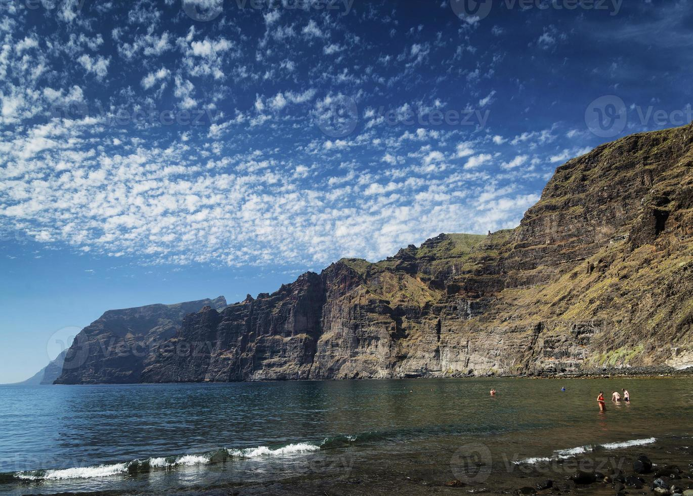 Los Gigantes cliffs nature landmark and resorts in South Tenerife island Spain photo