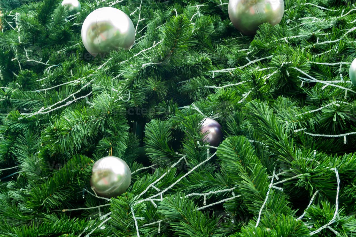 Artificial foliage made from plastic of artificial Christmas tree photo
