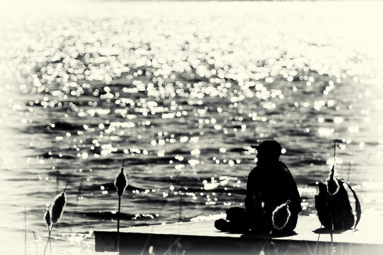 Him and a lake photo