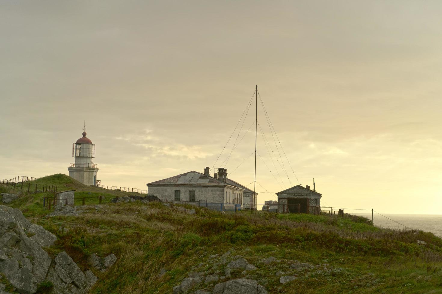 Landscape with a view of the ancient lighthouse. photo