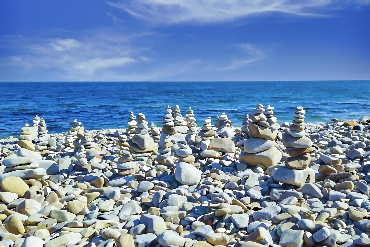 Seascape with views of pebble beach photo