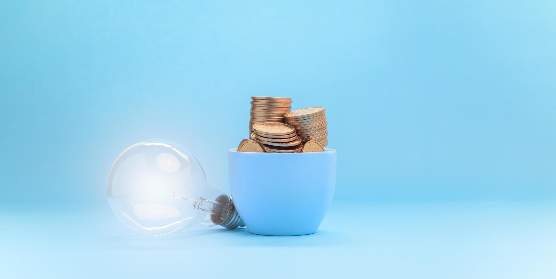 concepto de inversión stock finanzas crecimiento ahorrando dinero foto