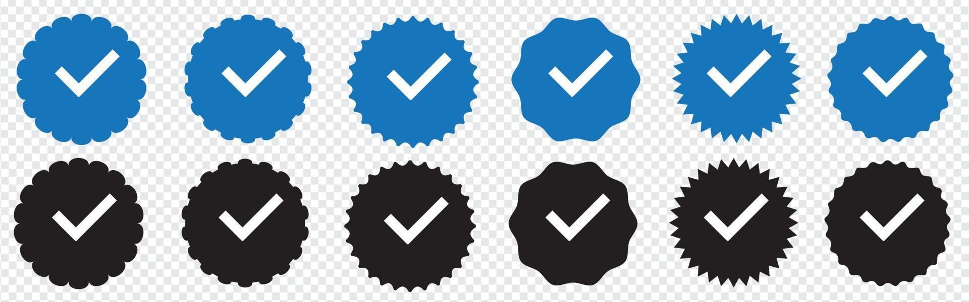 Verified badge profile set. Instagram verified badge. Social media vector