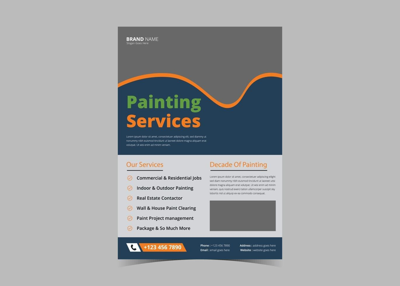 Paint service flyer design template vector