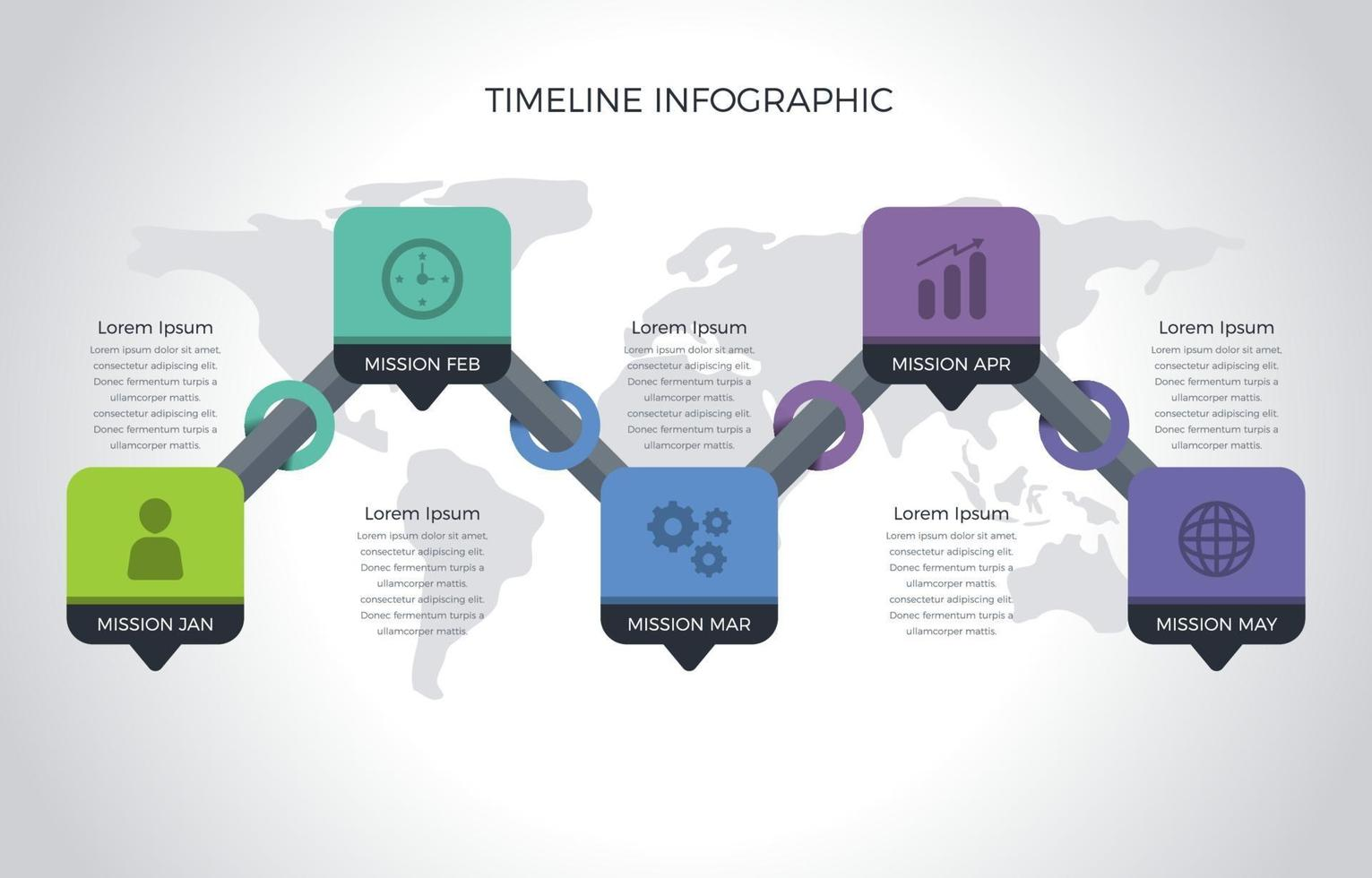 Easily Plan Ahead using Timeline Infographic vector