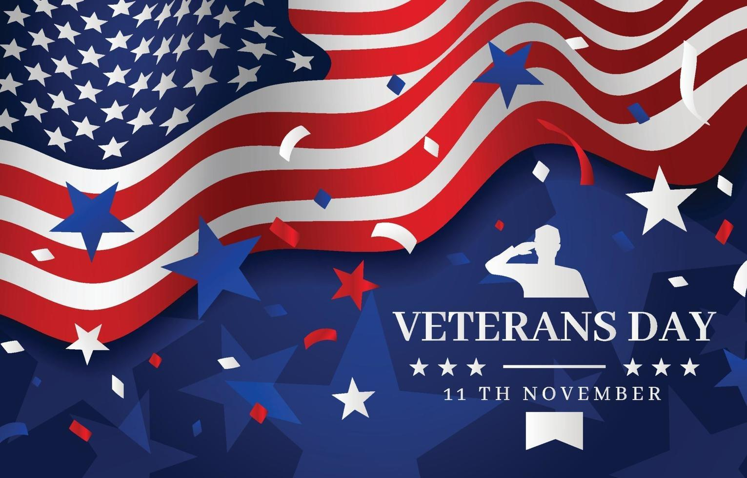 USA Veterans Day Background vector