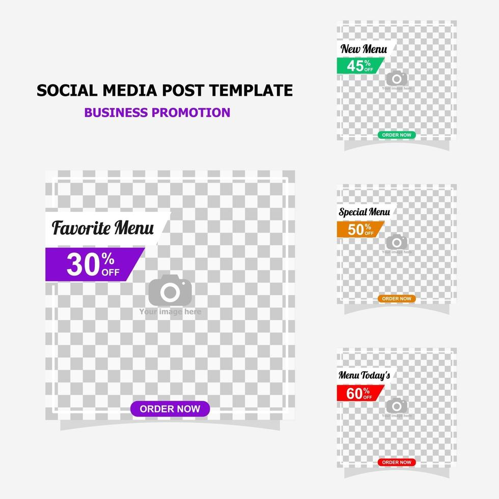 Social media post for your business promotion style four vector