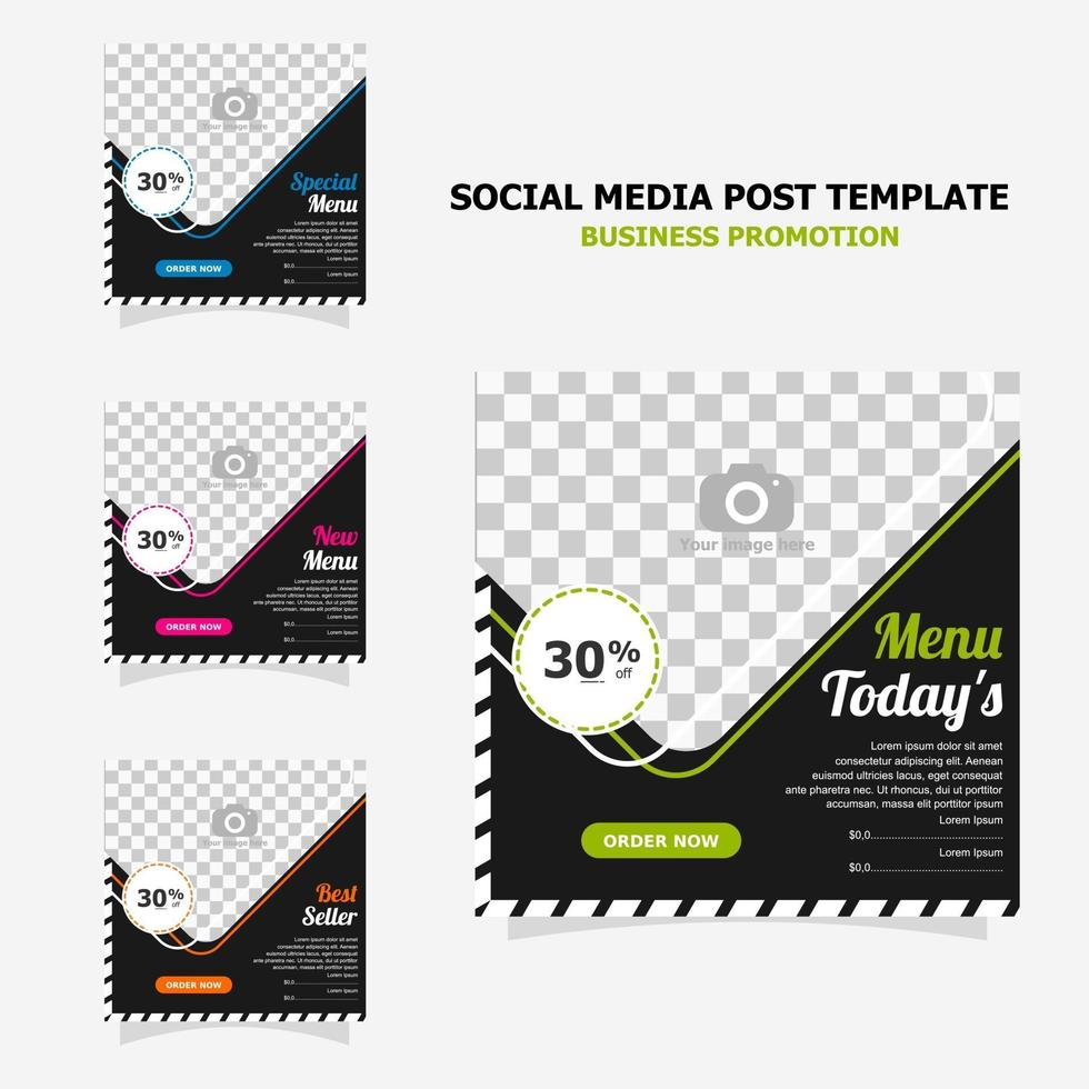 Social media post promotion with dark brown colour style twenty one vector