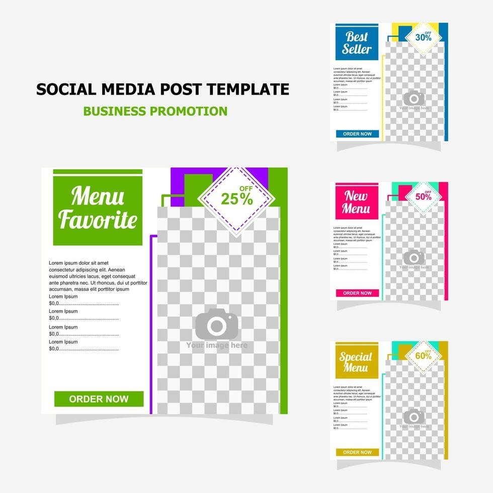 Social media post for your business promotion style sixteen vector
