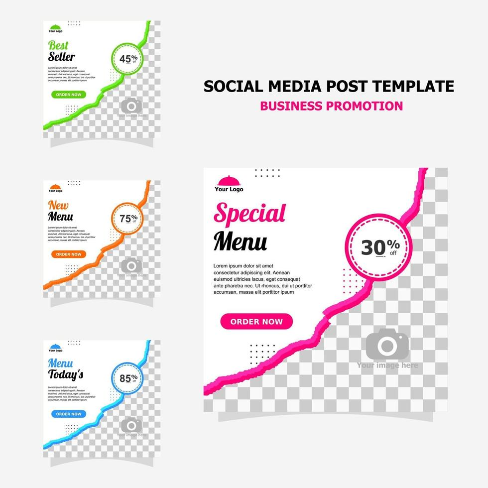 Social media post for your business promotion style twenty vector