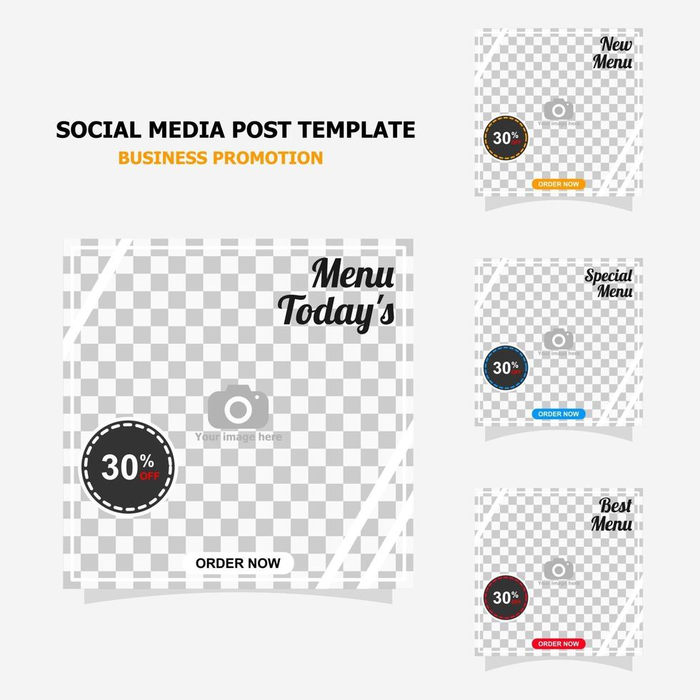 Simple social media post template for your business style one vector