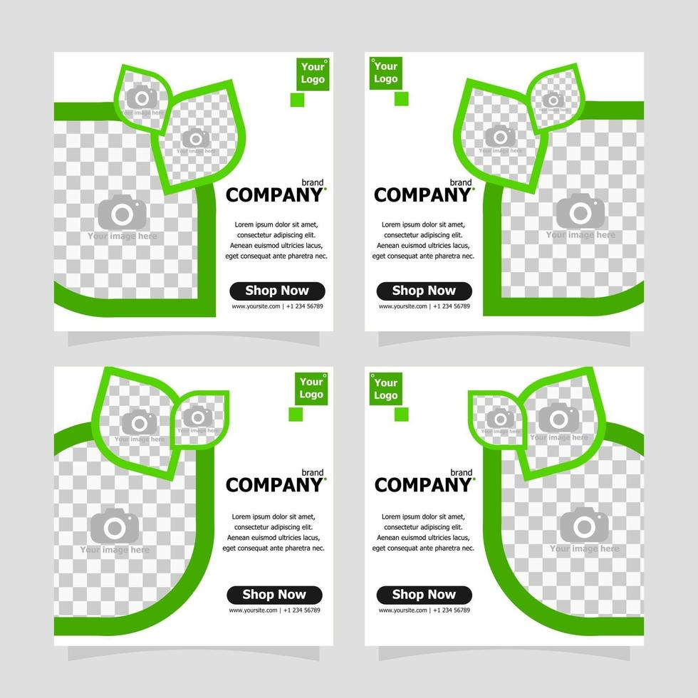 Package template social media post promotion style one vector