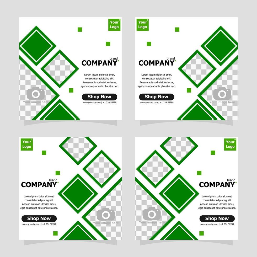 Package template social media post promotion style eleven vector