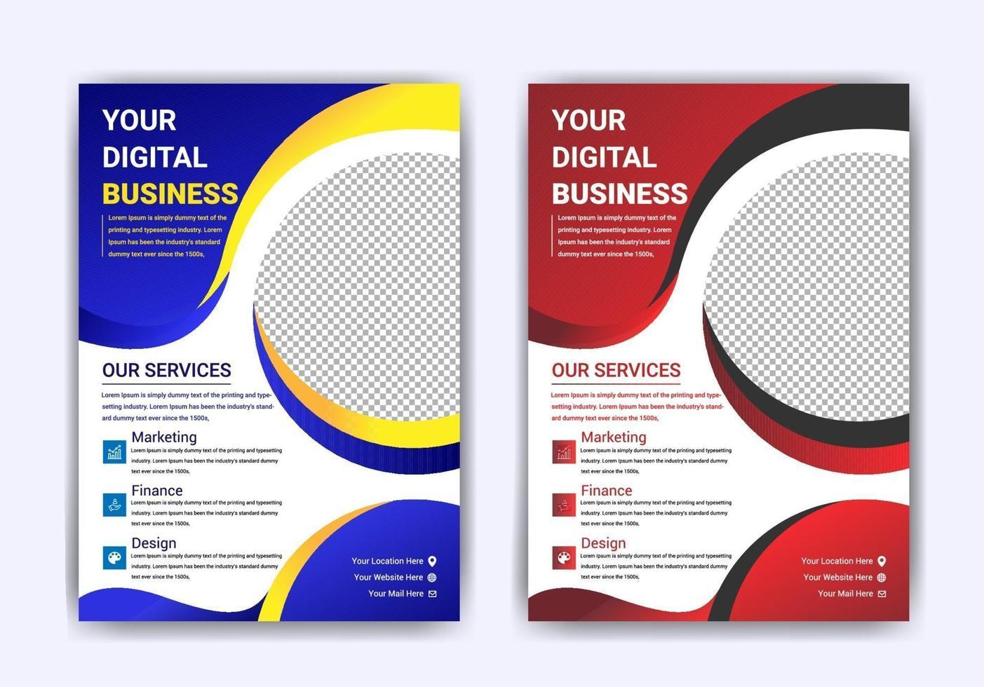 Digital marketing  business flyer Template Design vector