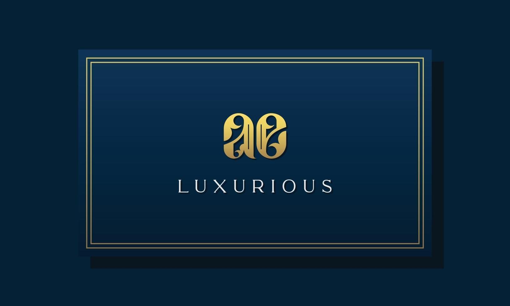 Vintage royal initial letter AE logo. vector