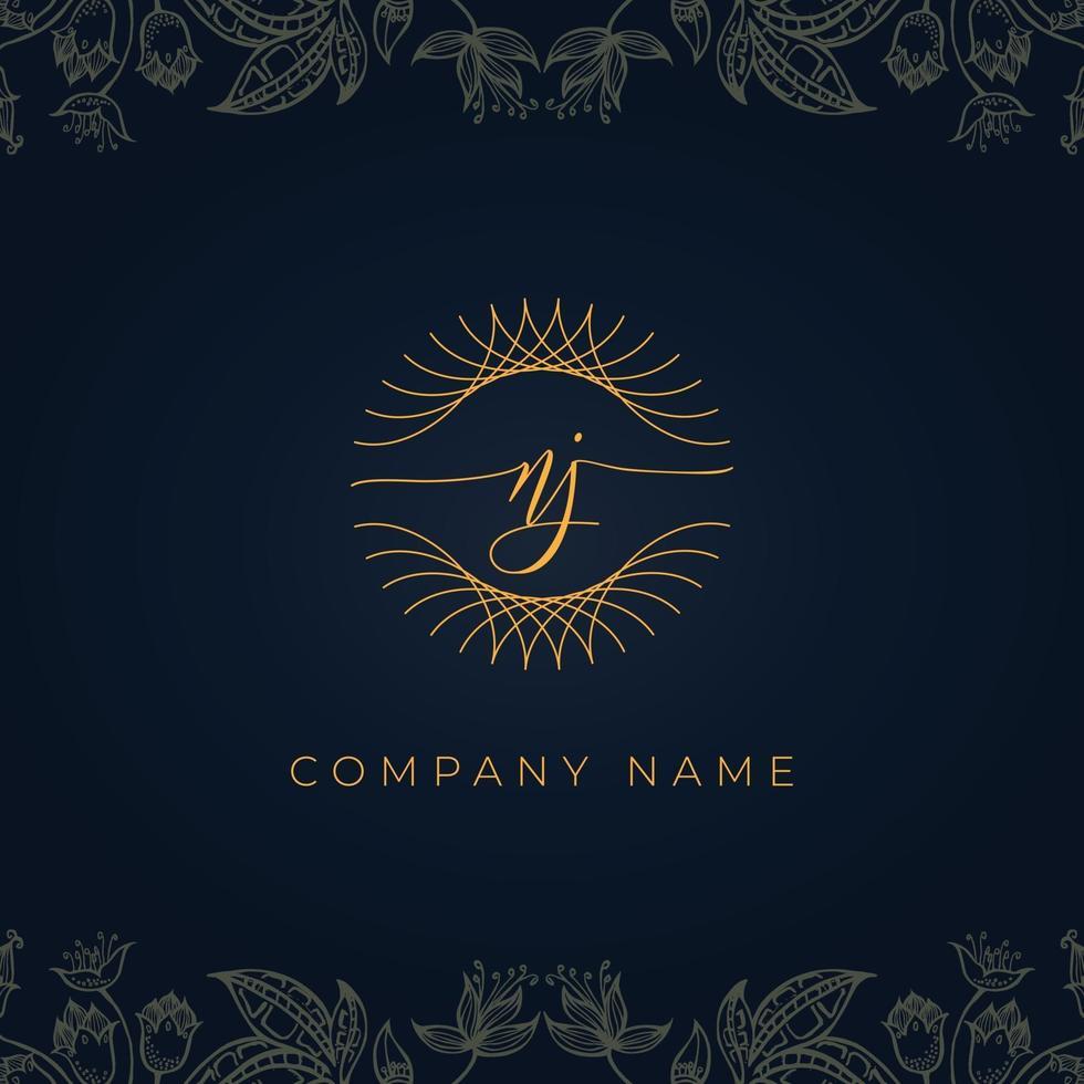 Elegant luxury letter NJ logo. vector