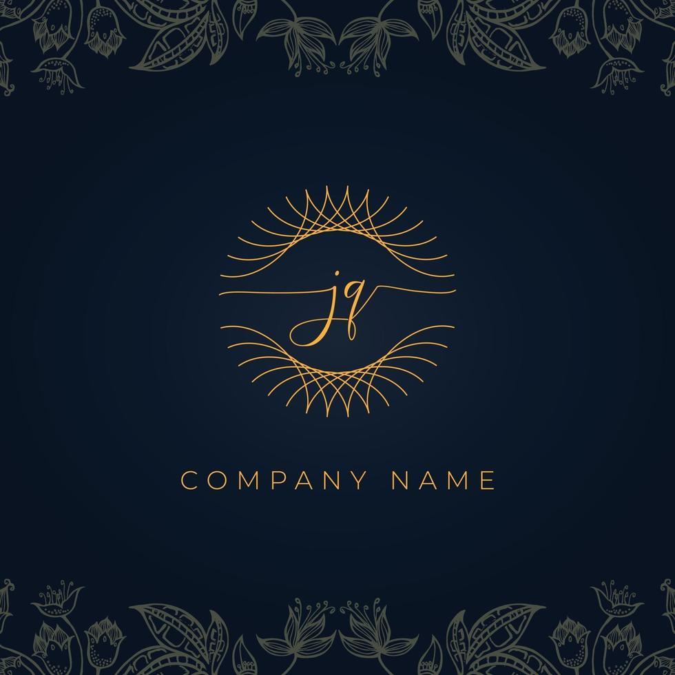 Elegant luxury letter JQ logo. vector
