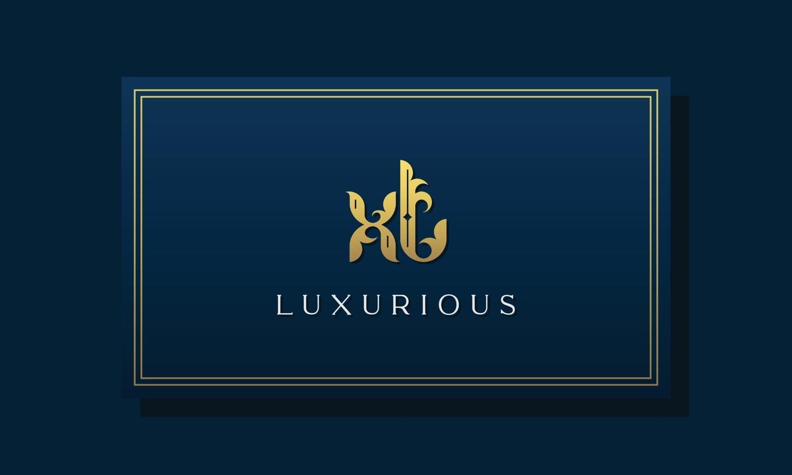 Vintage royal initial letters XT logo. vector
