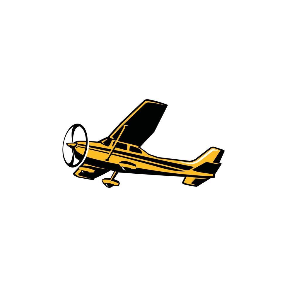 Light Aircraft Vector. Small plane propeller vector