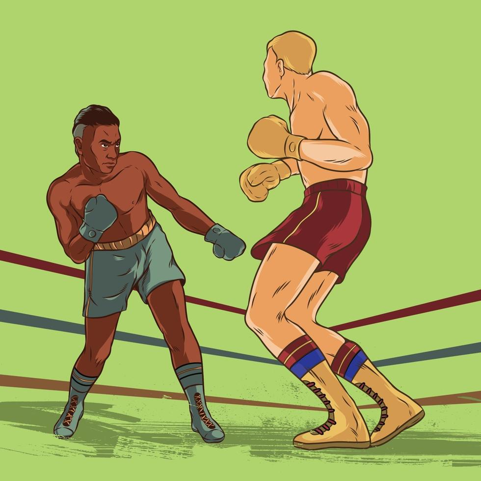 Boxing Fighters Match Championship Illustration vector