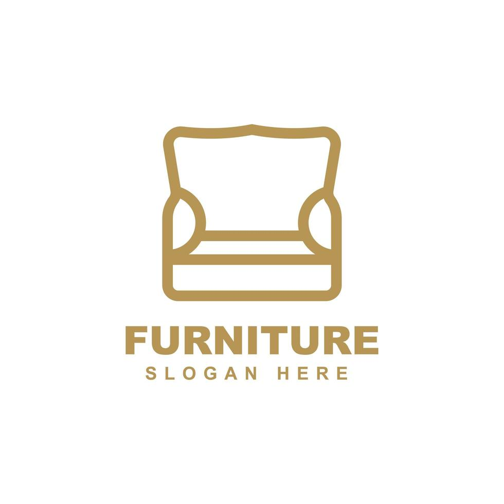 Furniture logo template design vector icon illustration.