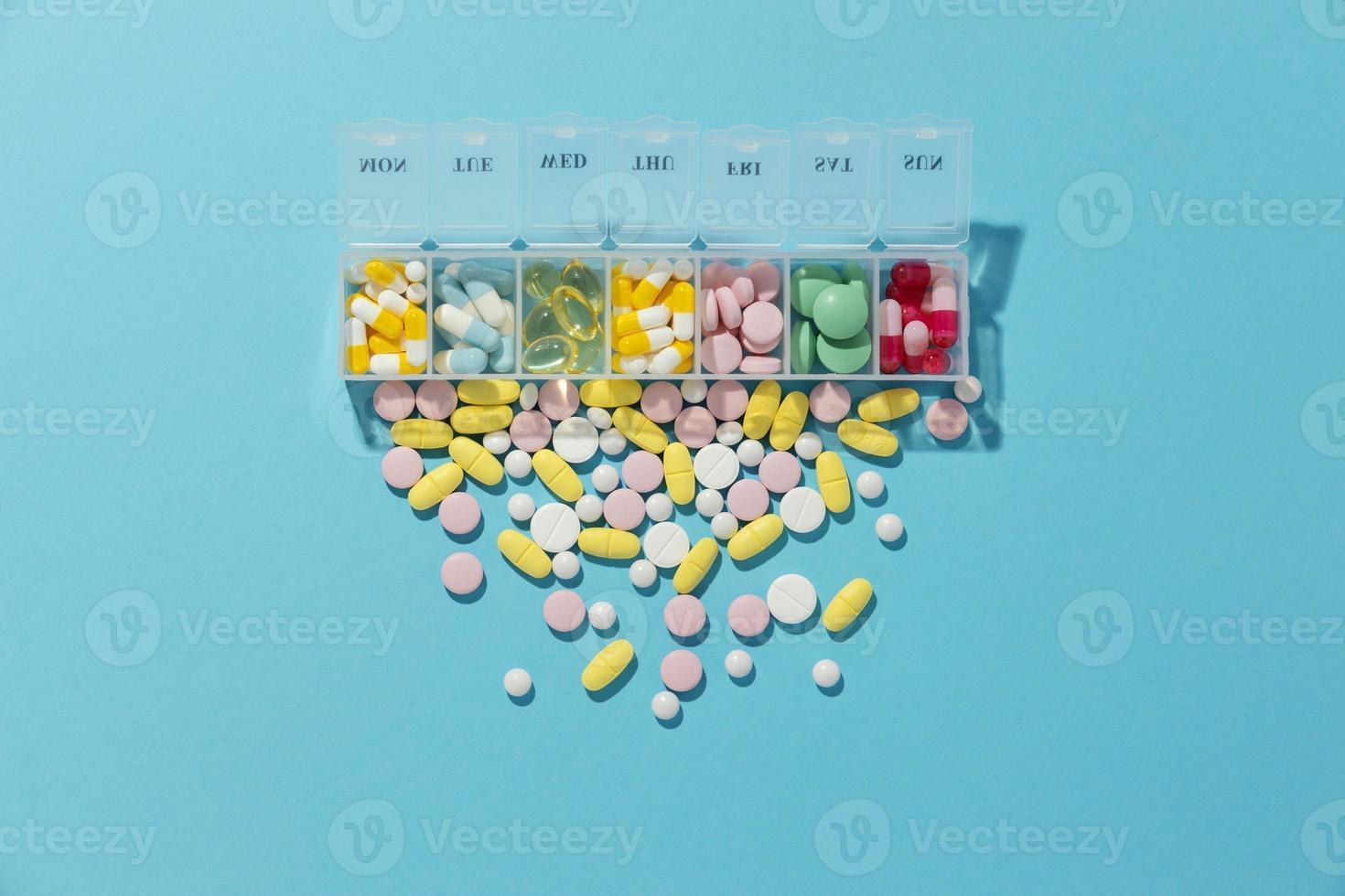 Minimal medicinal pills assortment. Resolution and high quality beautiful photo