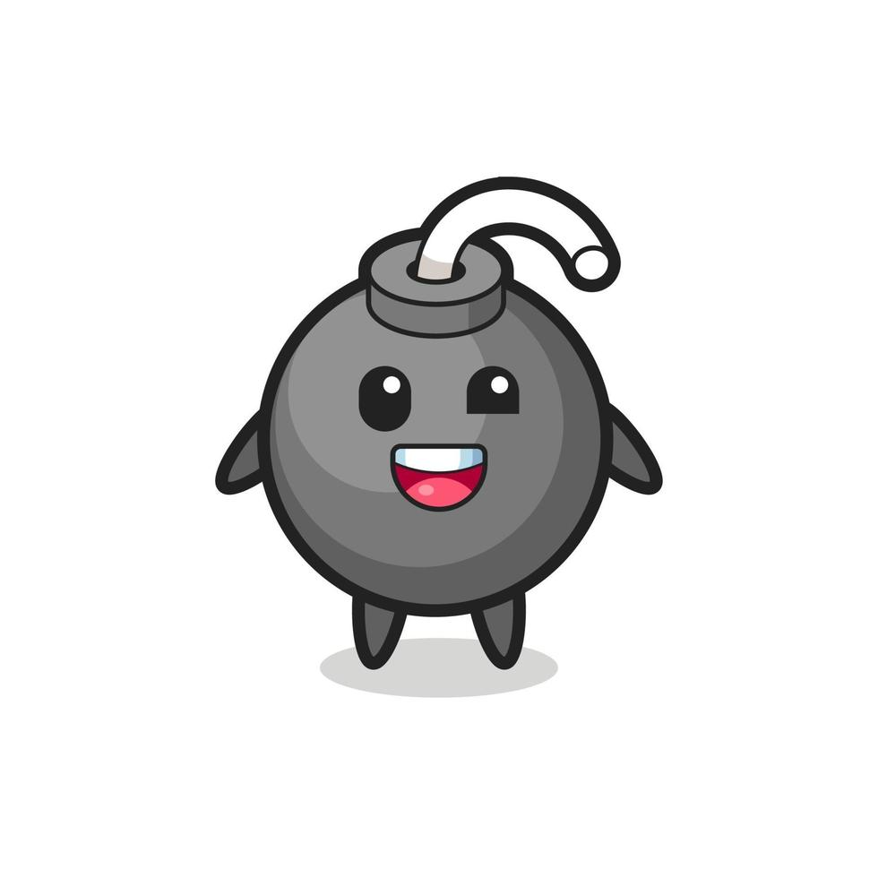 Ilustración de un personaje de bomba con poses incómodas. vector