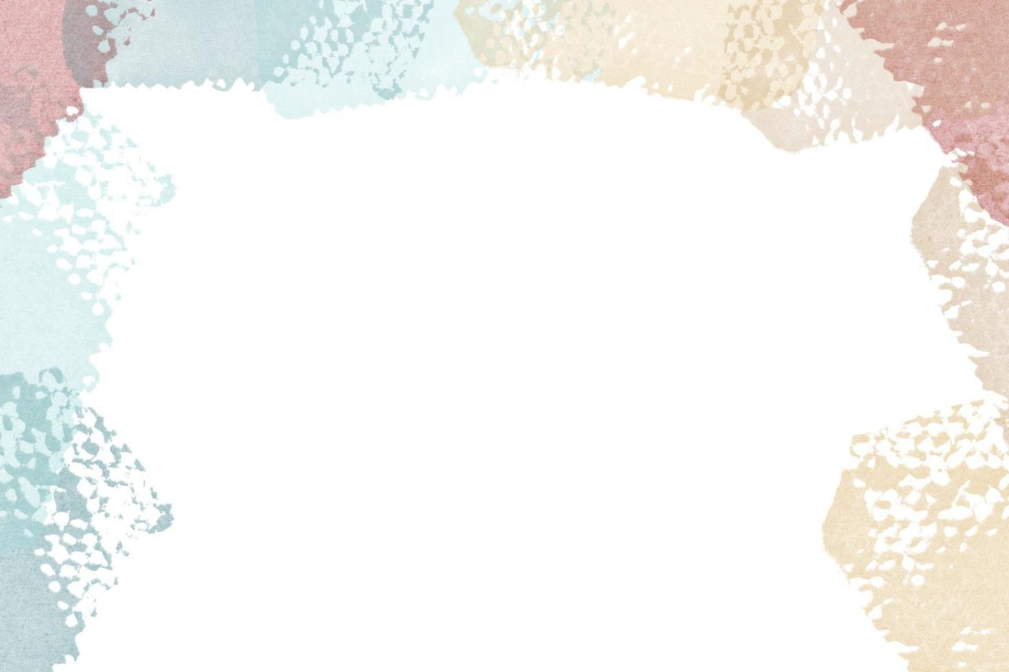 Hand painted watercolor background and shape vector