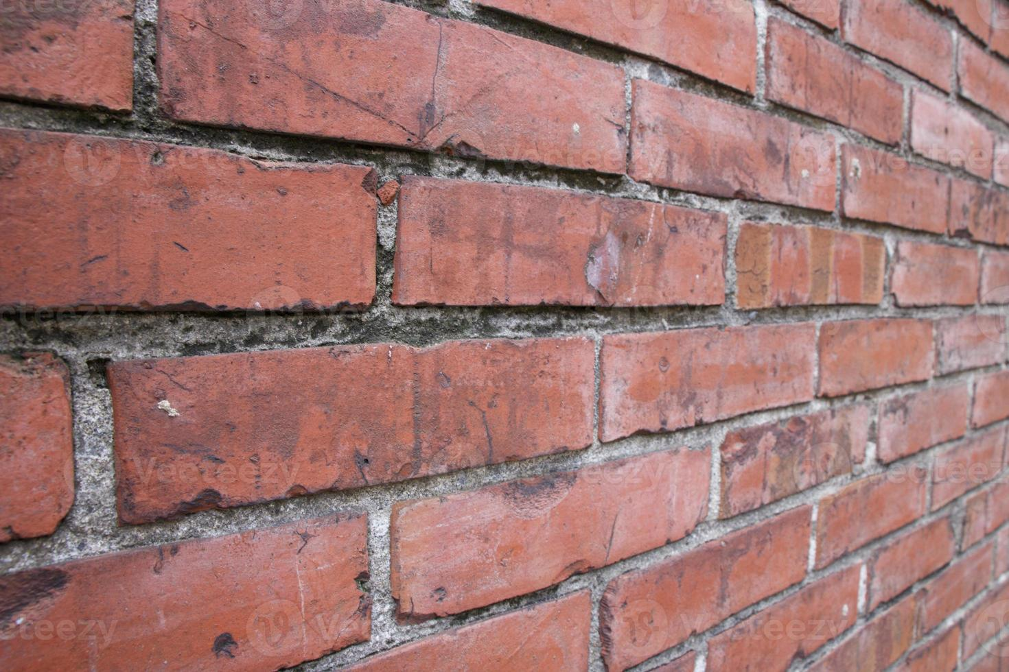 Background red vintage old brick concrete wall photo