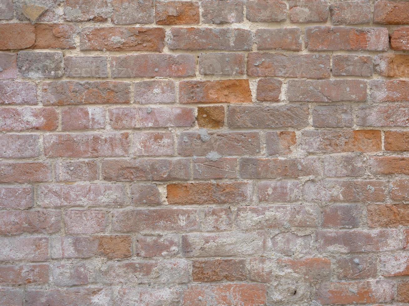 Retro vintage brick old wall texture background image photo