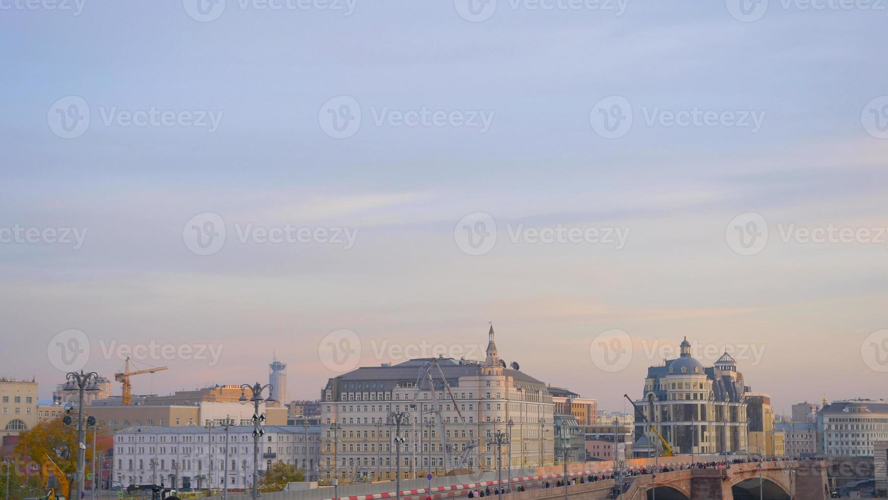 Elegant pastel sky city landscape view in Moscow Russia photo