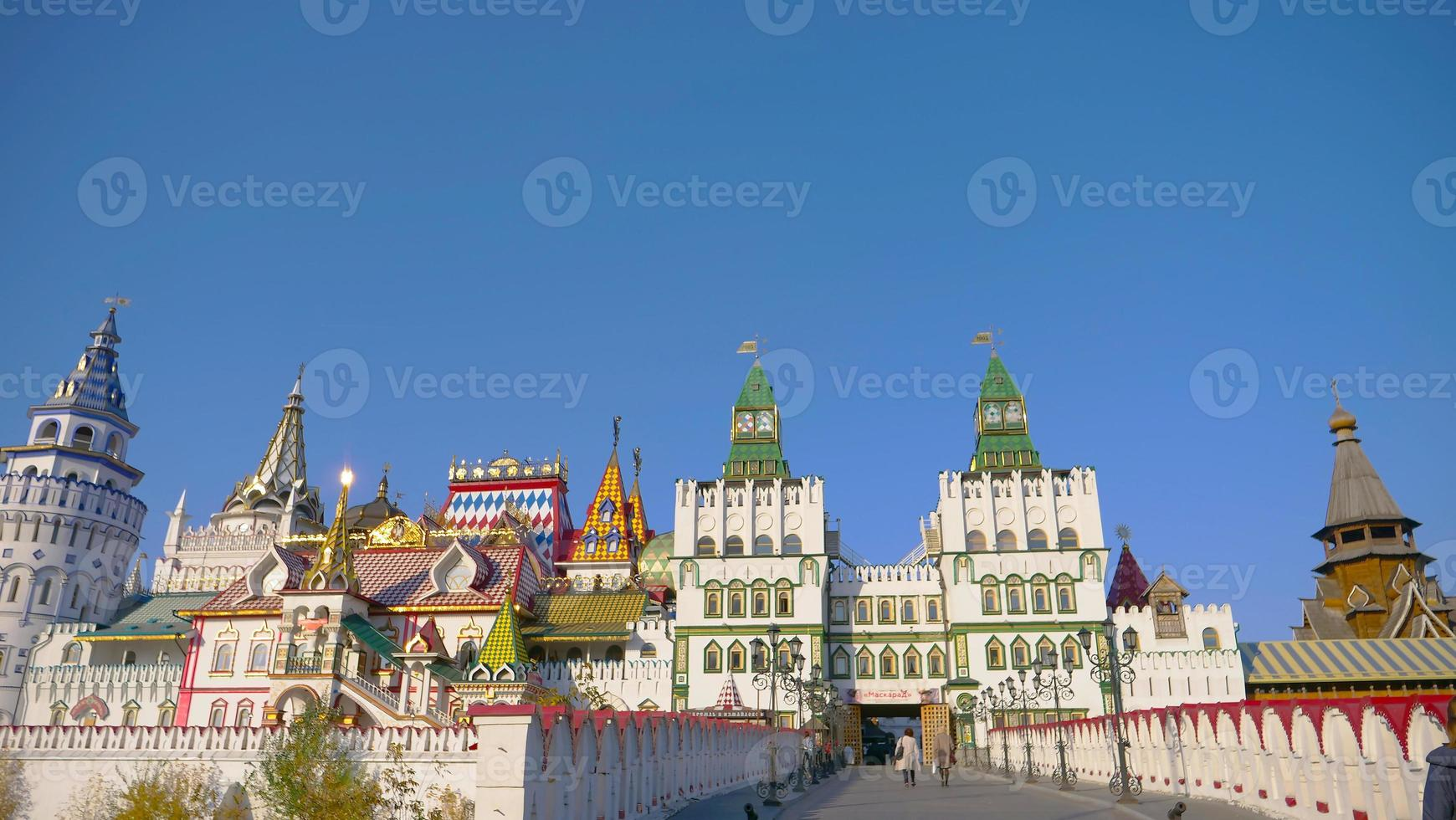 hermosa arquitectura del mercado izmailovsky en moscú rusia foto