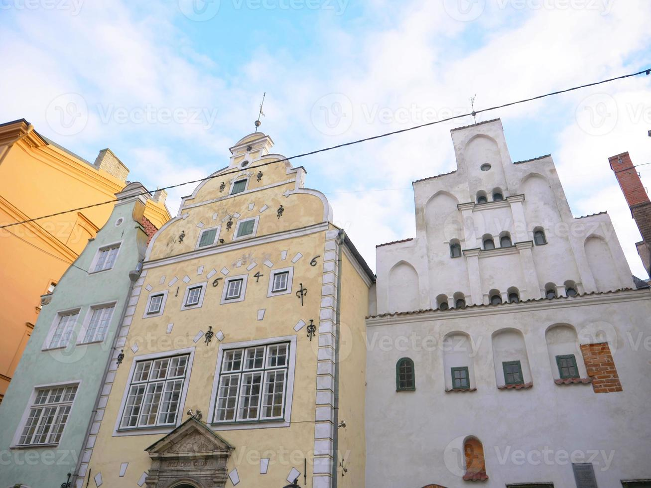 architecture The three brothers in Latvia Riga old town photo