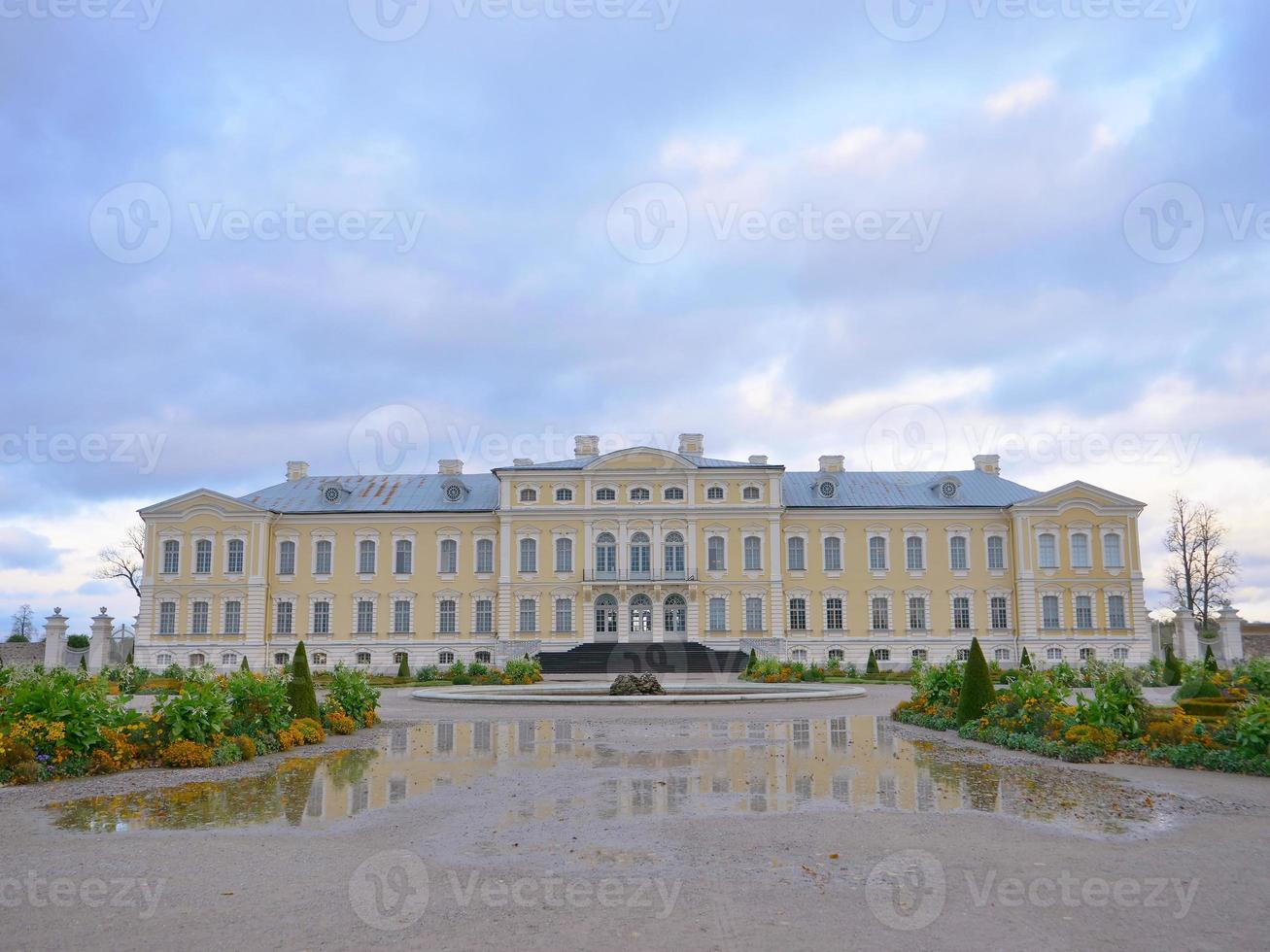 Rundale palace garden landscape view in Latvia photo