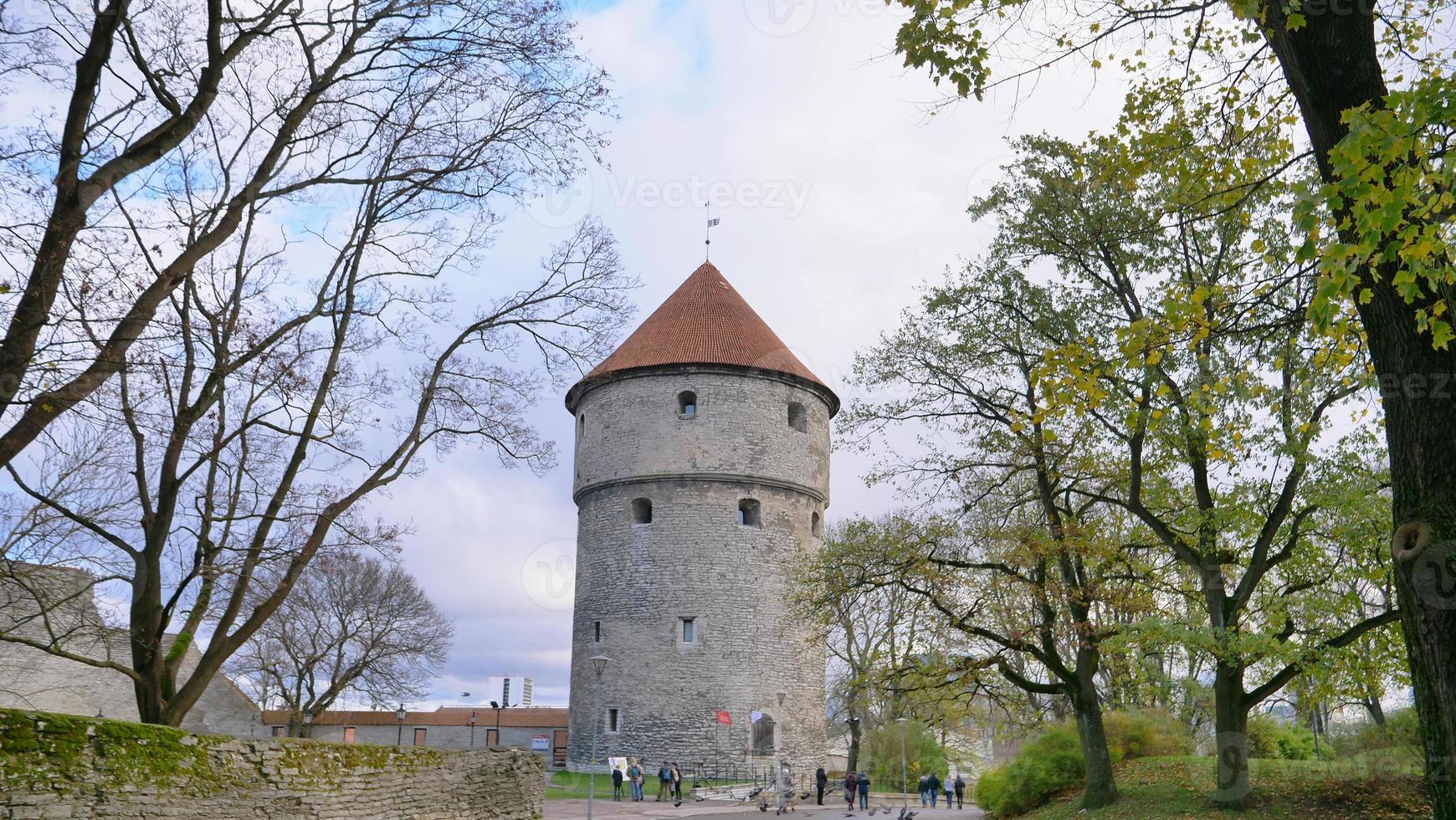 architecturesix-story artillery tower in Tallinn photo