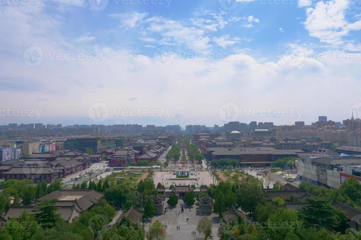 landscape of Xian China from Buddhist architecture Dayan Pagoda photo