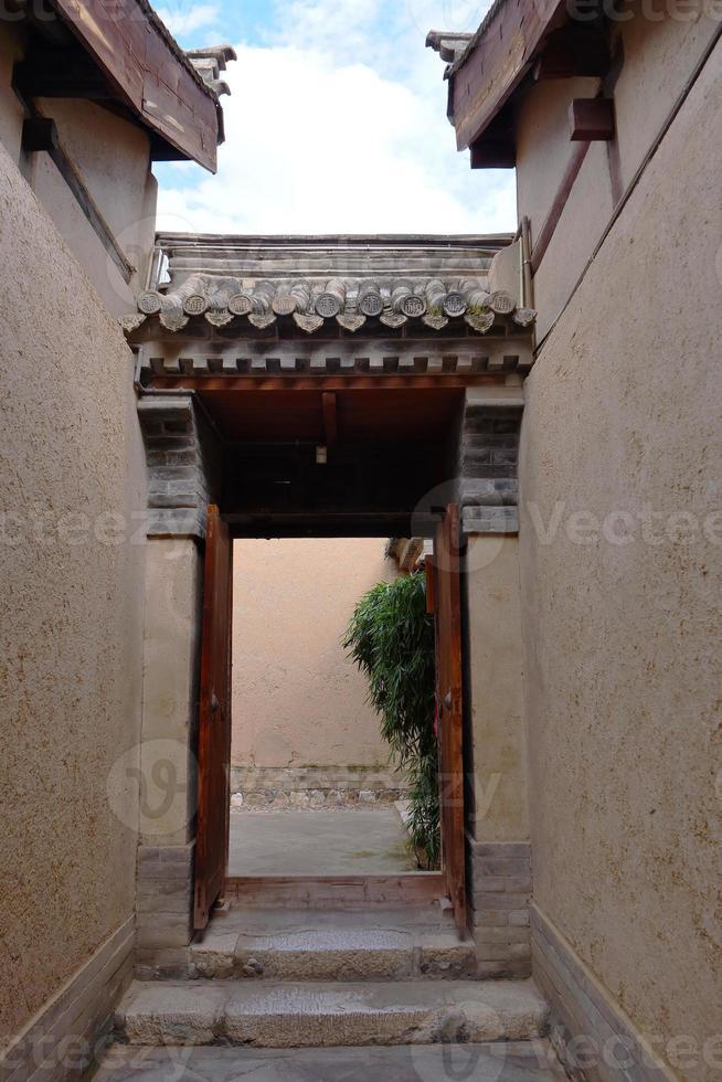 Museo de artes populares de tianshui casa folclórica de hu shi, gansu china foto