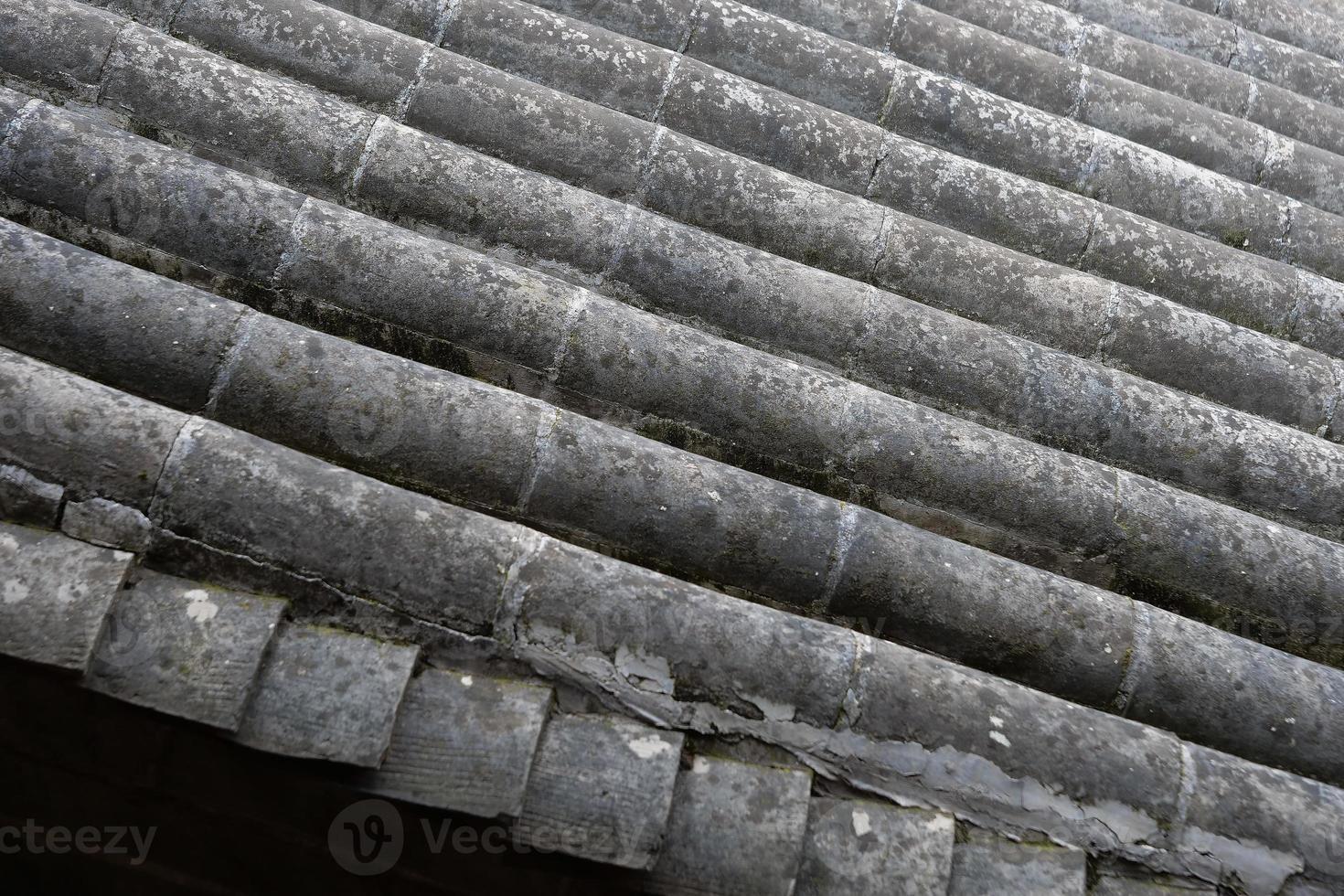 Techo de tejas en el museo de artes populares de Tianshui, la casa popular de Hu Shi, Gansu, China foto