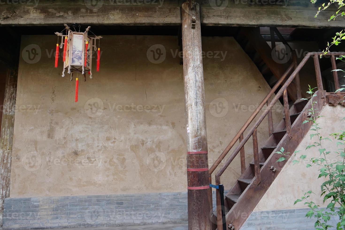 Residencias chinas tradicionales en el museo de artes folclóricas de Tianshui China foto