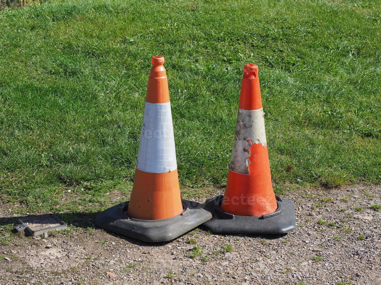 Traffic cone signs photo