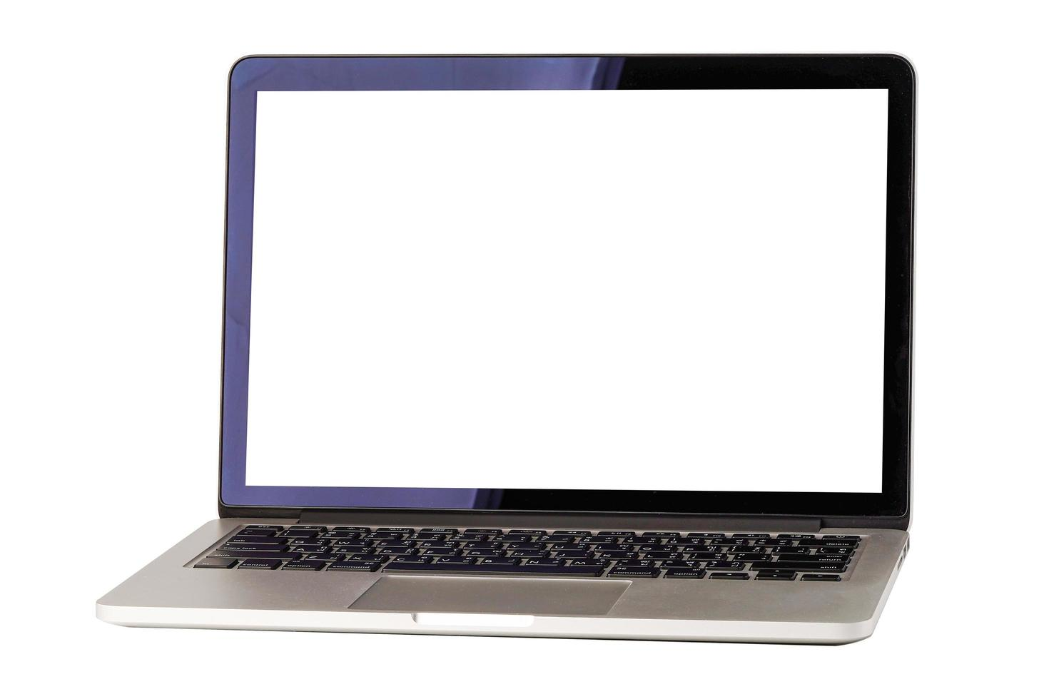 Tecnología portátil de computadora aislada sobre fondo blanco. foto
