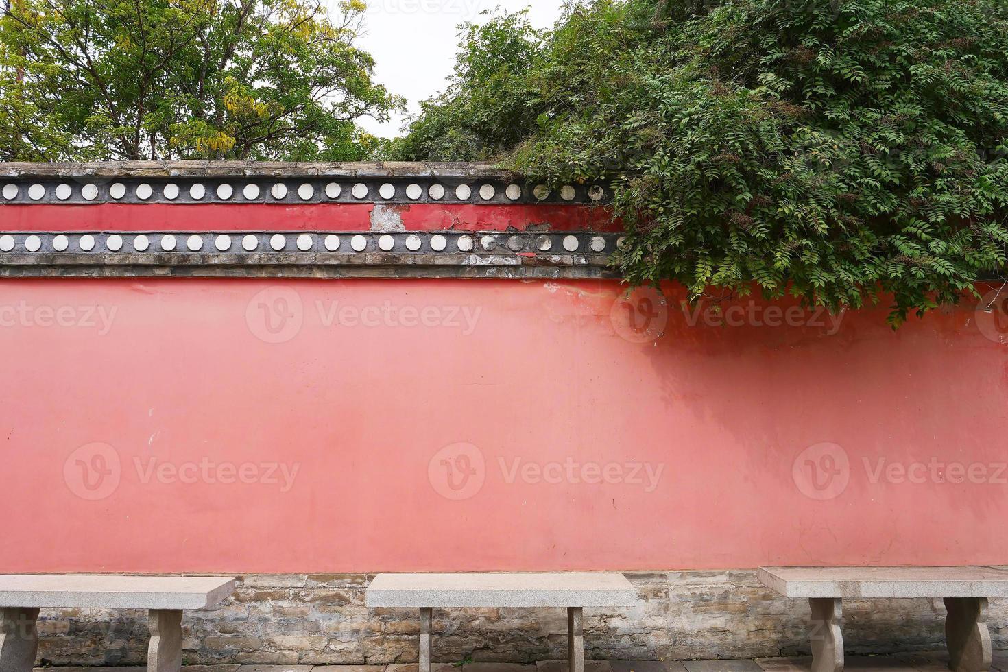Retro wall in Kumbum Monastery, Ta'er Temple, Xining Qinghai China. photo