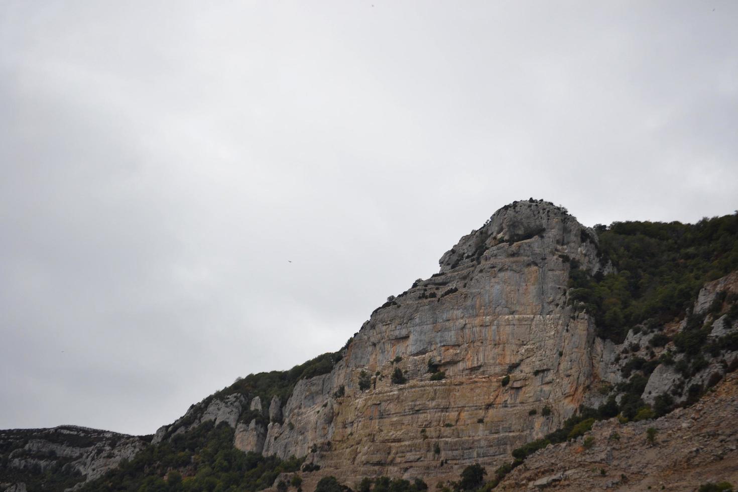 Mountain of rocks near the Monastery of Leyre photo