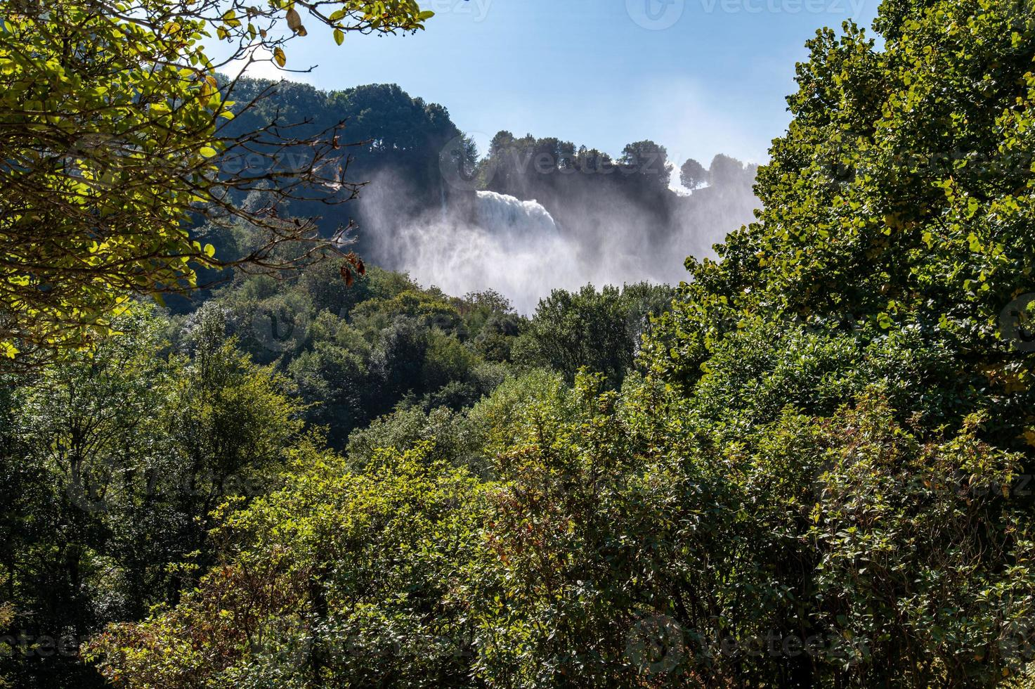 Waterfall marmore artificial waterfall in Umbria photo