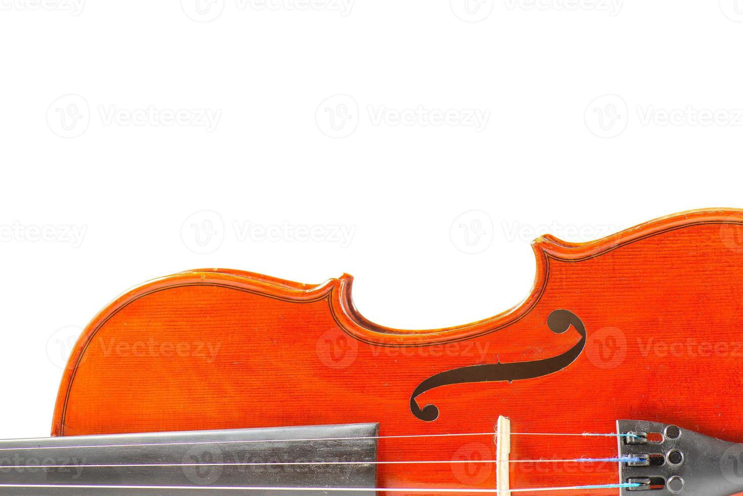 Detail of red violin photo