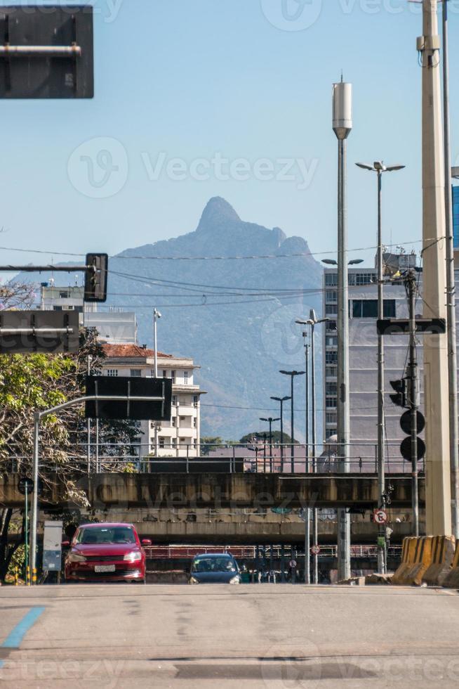 Downtown street of Rio de Janeiro, Brazil photo