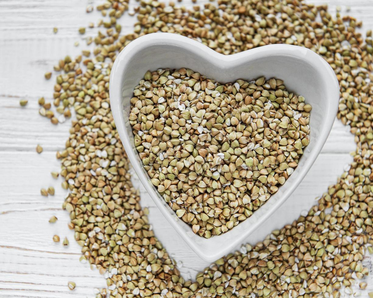 Organic green buckwheat photo