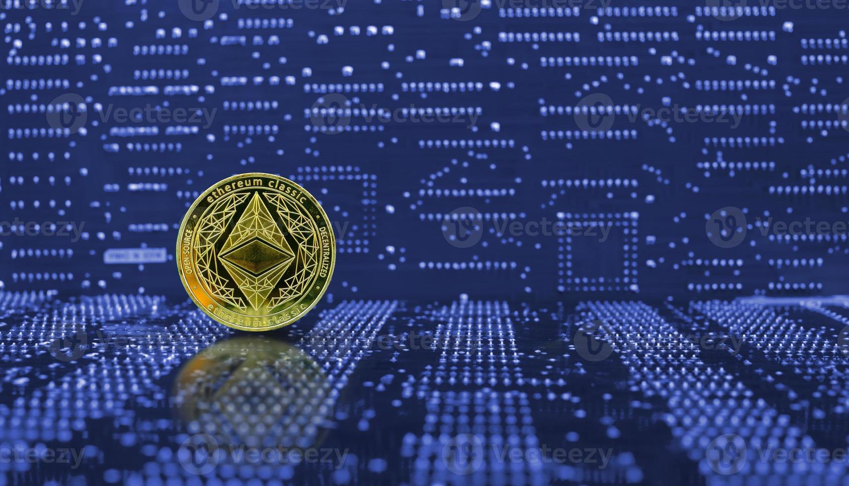 golden ethereum eth coin eth criptomoneda nueva versión foto